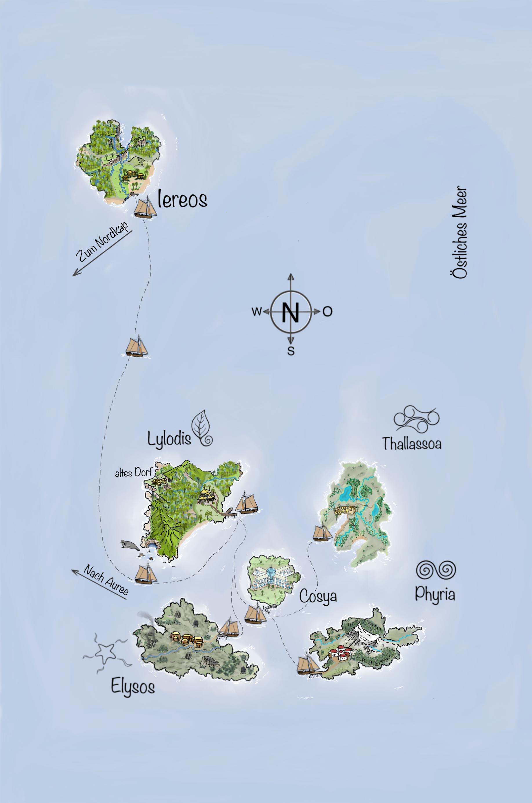 Naturgewalten - Die Dilogie - Karte (Inselreich)